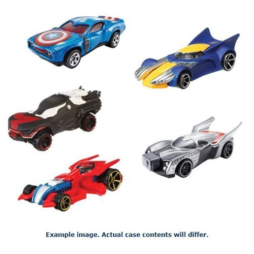 Hot Wheels Marvel Character Cars 1:64 Scale 2017 Wv. 6 Case