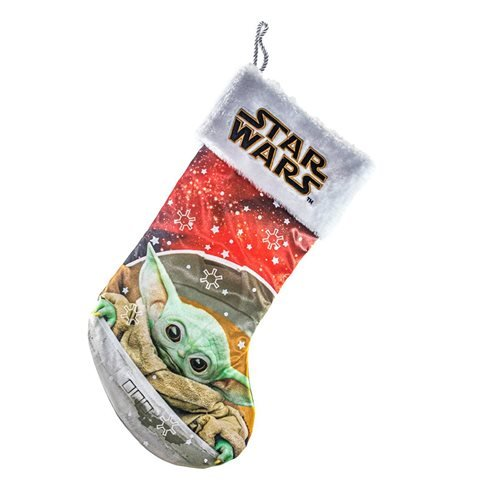 Star Wars: The Mandalorian The Child 19-Inch Stocking with White Cuff