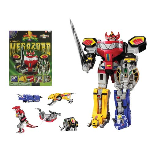 Mighty Morphin Power Rangers Legacy Dino Megazord Action Figure