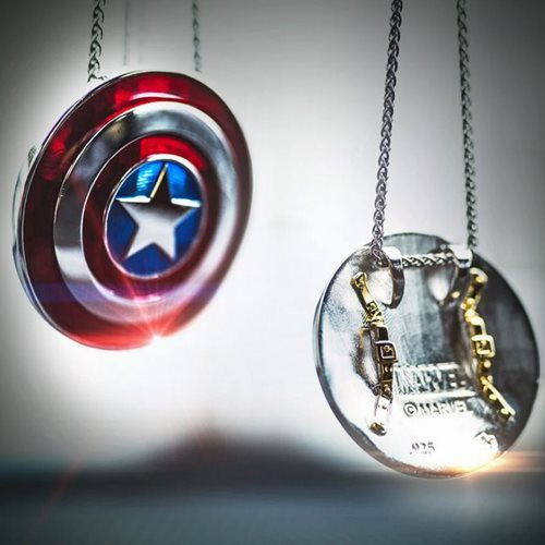 Captain America Shield Small Pendant Necklace