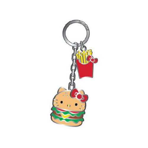 Hello Kitty Burger 2 1/2-Inch Enamel Key Chain