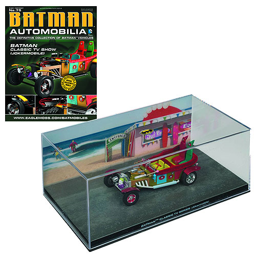 Batman Classic 1966 TV Series Jokermobile Die-Cast Metal Vehicle with Collector Magazine