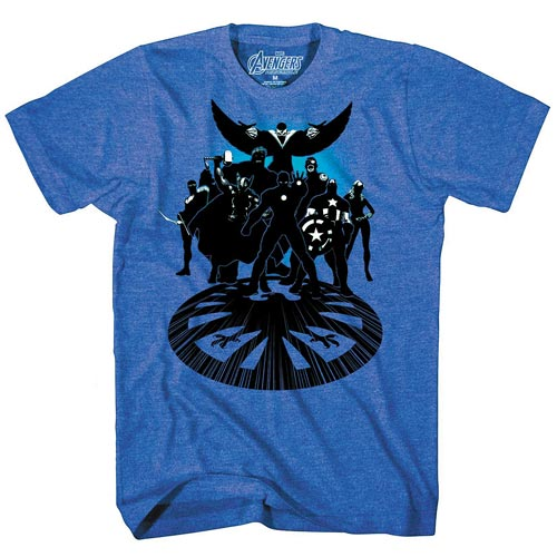 Avengers Get Suited Blue Heather T-Shirt