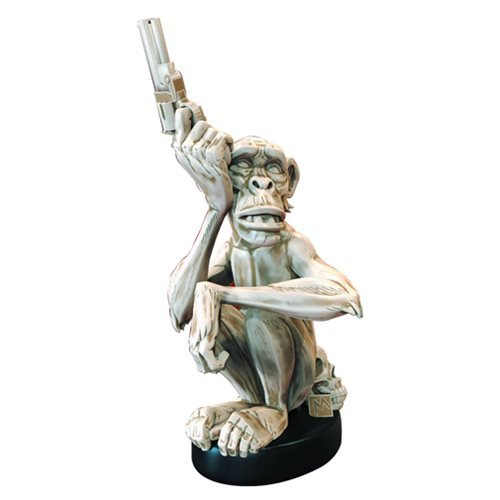 Mike Mignola Monkey with a Gun Bone Statue