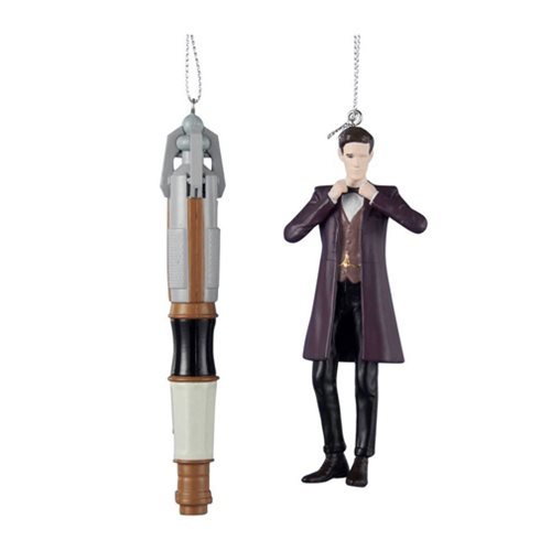 Doctor Who Doctor and Screwdriver Figural Ornament 2-Pack