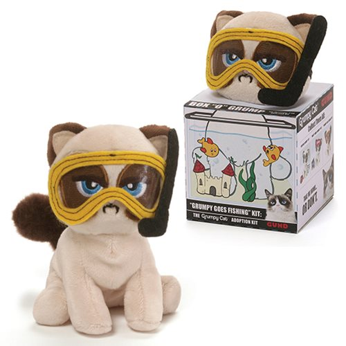 Grumpy Cat Box O Grump Grumpy Goes Fishing 4 1/2-Inch Plush