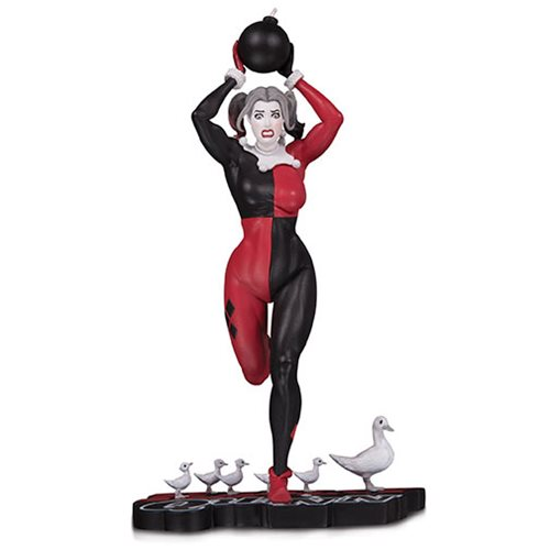 Harley Quinn Red White and Black Statue by Frank Cho Statue