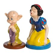 Snow White and Dopey Sculpted Ceramic Salt and Pepper Set
