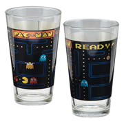 Pac-Man 16 oz. Laser Decal Glass 2-Pack