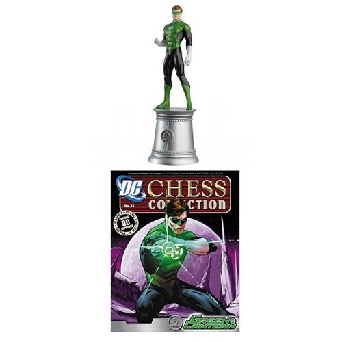 Green Lantern White Bishop Chess Piece with Magazine