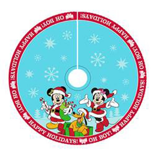 Mickey Mouse and Minnie Mouse Satin 48-Inch Tree Skirt