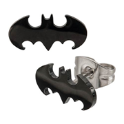 Batman Logo Cut Stud Earrings