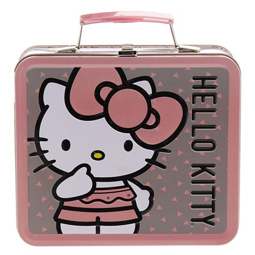 Hello Kitty Pink Big Bow Tin Tote