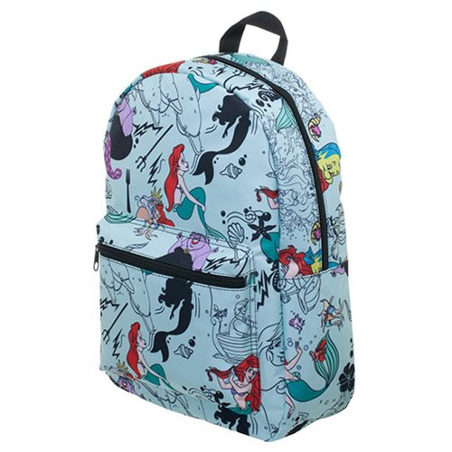 a5817161b77 The Little Mermaid Print Blue Backpack - Entertainment Earth