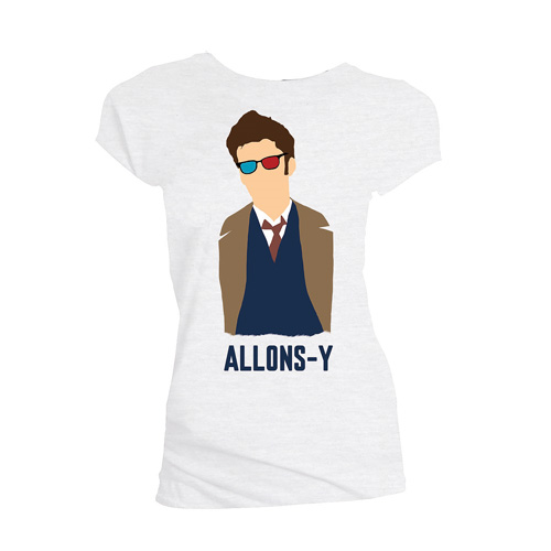 Doctor Who 10th Doctor Allons-y Vector Ladies T-Shirt