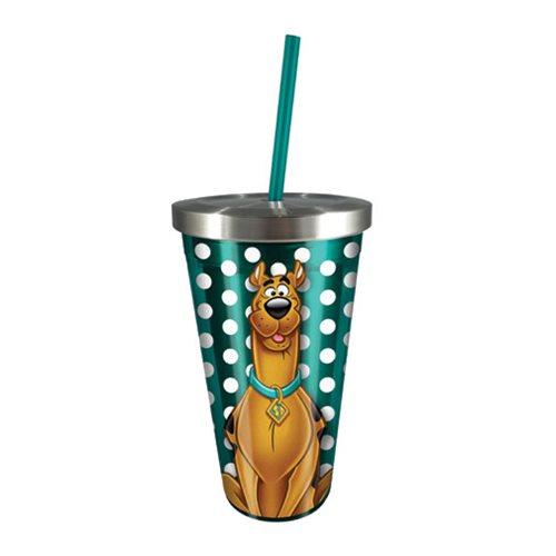 Scooby-Doo 16 oz. Stainless Steel Travel Cup with Straw