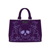 Skull and Roses Purple Purse