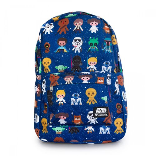 Star Wars Baby Character Print Laptop Backpack