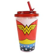 Wonder Woman Uniform 16 oz. Flip-Straw Travel Cup