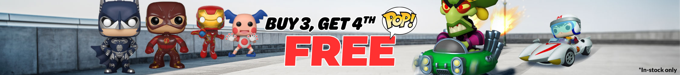 Funko Buy 3 Get 4th Free