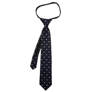 Superman Pin Dot Boys Zipper Silk Tie