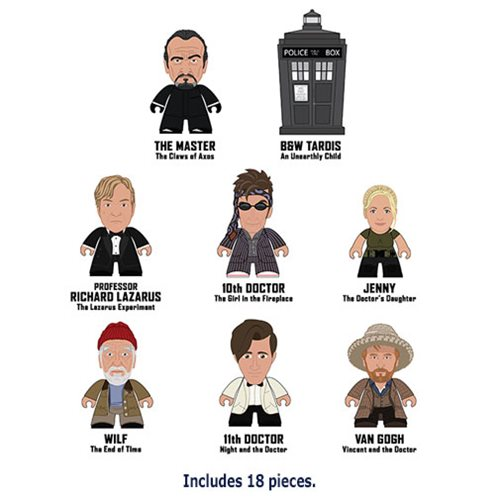Doctor Who Master Titans  – Display Case of 18 Mini-Figures