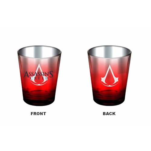 Assassin's Creed Red and Chrome Shot Glass