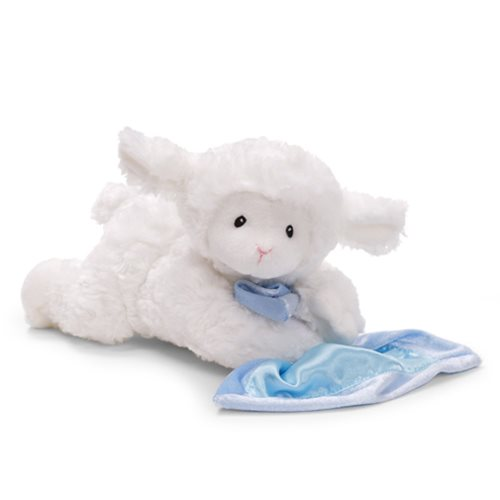 Lena Lamb Blue Sound Toy 9-inch Plush