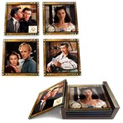 Gone with the Wind 75th Anniversary StarFire Prints Glass Coaster Set