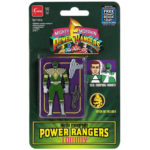 Mighty Morphin Power Rangers Auto Morphin Green Ranger Pin - FCBD 2021 Previews Exclusive