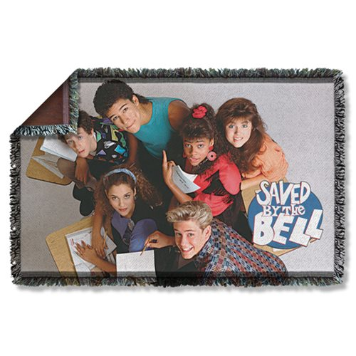 Saved by the Bell Group Shot Woven Tapestry Throw Blanket