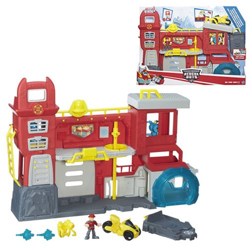 Transformers Rescue Bots Griffin Rock Firehouse Headquarters Playset