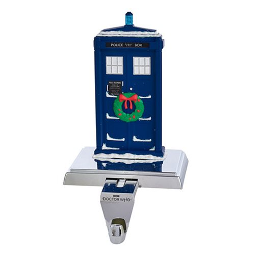 Doctor Who 13th Doctor TARDIS 7 1/2-Inch Stocking Holder