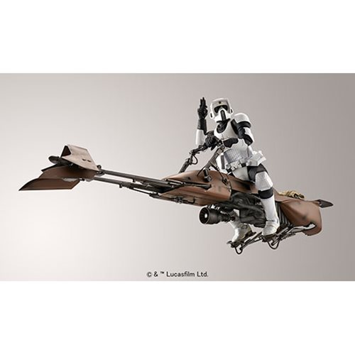 Star Wars Scout Trooper and Speeder Bike 1:12 Scale Model Kit