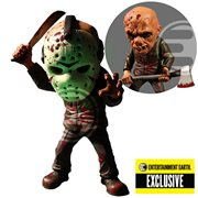 Friday the 13th Bloody Jason Voorhees Glow-in-the-Dark Mask Stylized Action Figure - Entertainment Earth Exclusive