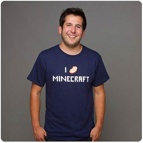 Minecraft I Porkchop Minecraft Blue T-Shirt