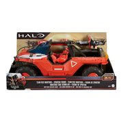 Halo Team Red Warthog Vehicle and Master Chief Mark IV Action Figure Combo