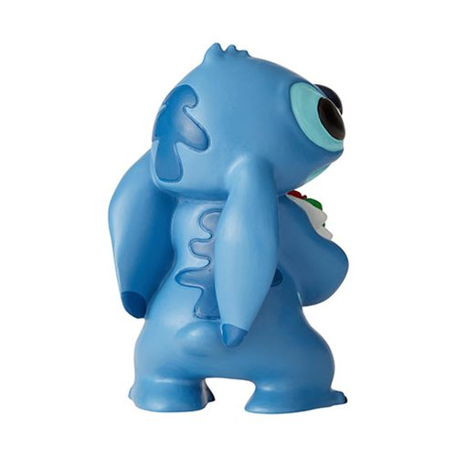 Disney Showcase Lilo & Stitch Stitch with Flowers Mini Statue