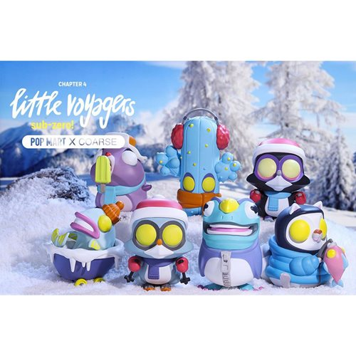 Little Voyagers Sub-Zero Series by Coarse Random Blind Box Vinyl Figure 6-Piece Display Tray