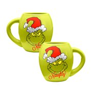 Dr. Seuss Grinchmas Naughty & Nice 18 oz. Oval Ceramic Mug