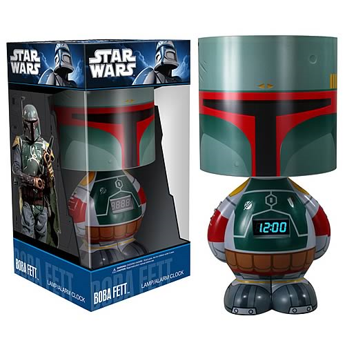 Star Wars Boba Fett Lamp Clock and MP3 Dock