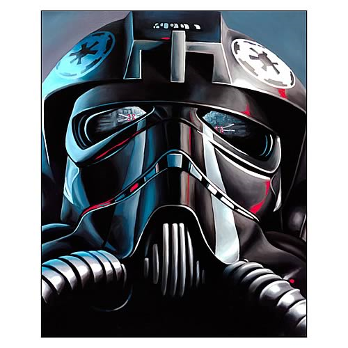 Star Wars TIE Fighter Pilot Small Canvas Giclee Print