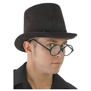 Steampunk Black Suede Coachman Hat