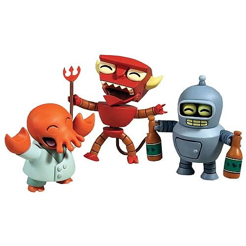 Futurama Tineez 3-Pack Stylized Mini-Figure Set