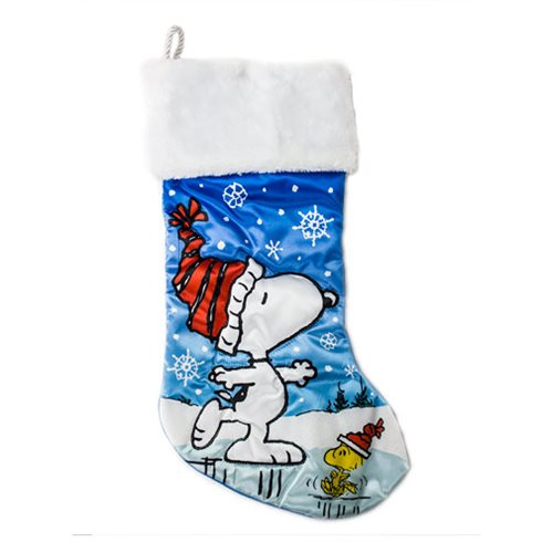Peanuts Snoopy and Woodstock Skating 19-Inch Stocking