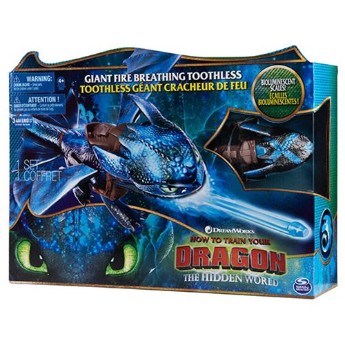 How to Train Your Dragon: The Hidden World Giant Fire Breathing Toothless Action Figure