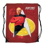Star Trek: The Next Generation Captain Picard Red Cinch Bag