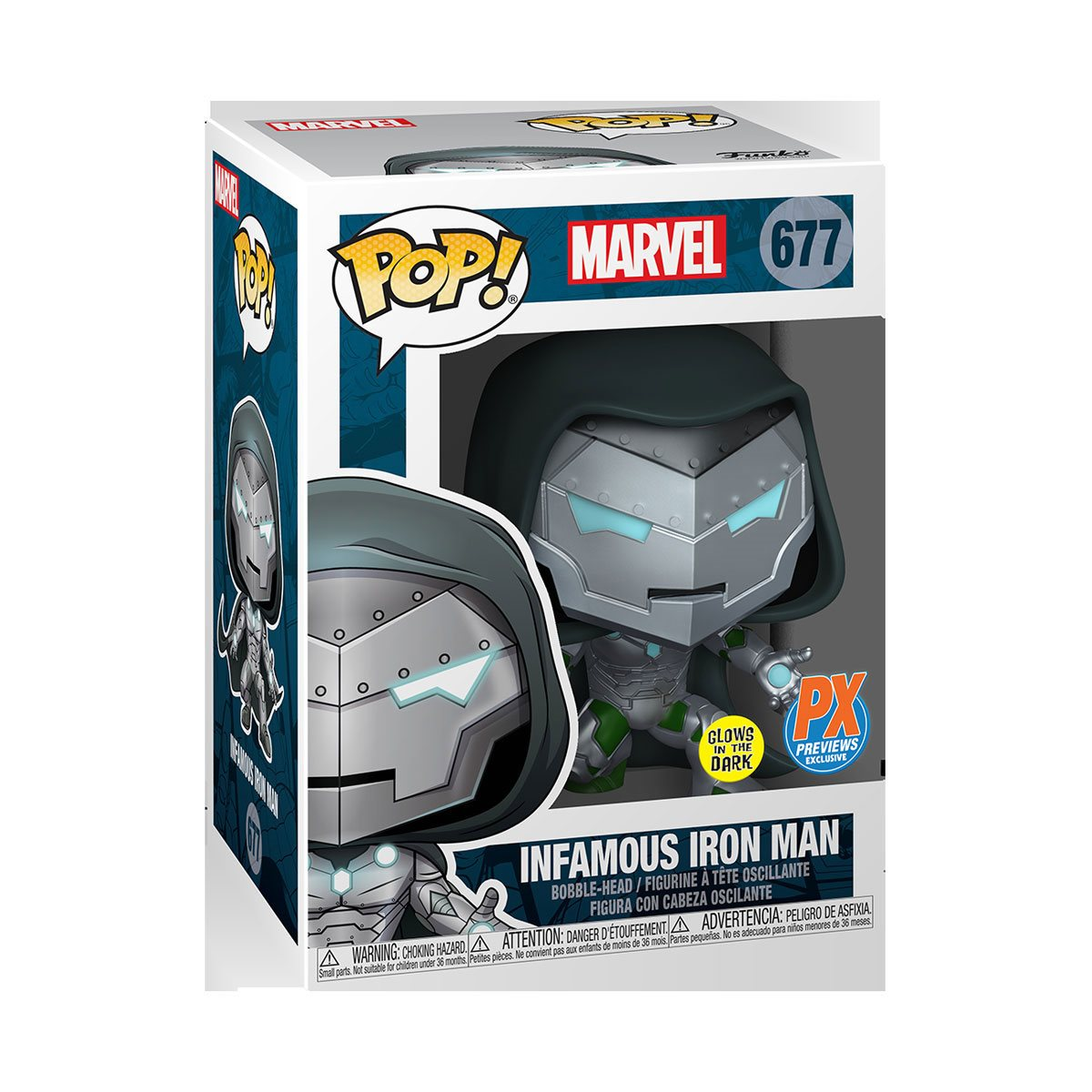 Halloween 2020 Lp Variatns Marvel Infamous Iron Man Pop! Vinyl Figure and Avengers #35