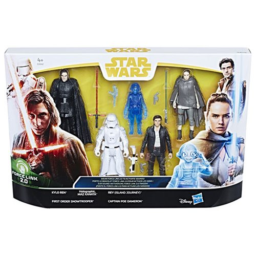 Star Wars Force Link 2.0 The Last Jedi Figure 5-Pack Action Figures - Exclusive