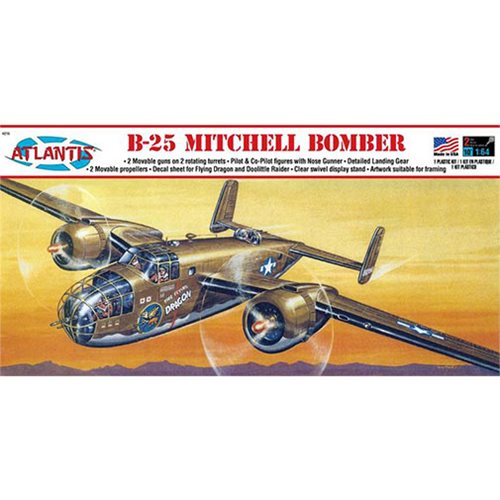 B-25 Mitchell Bomber Flying Dragon 1:64 Scale Model Kit